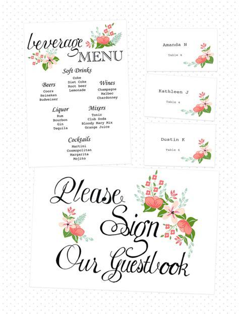 friday diy roundup free wedding printables part i