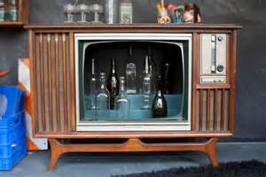 Old Cabinet Tv Hand Made Vintage Tv Television Cocktail Bar Cabinet By