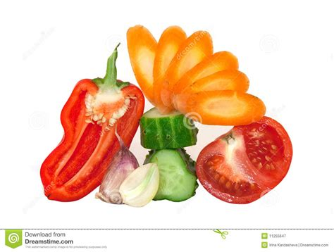 fresh cut fruits and vegetables cut up fresh vegetables royalty free stock photography