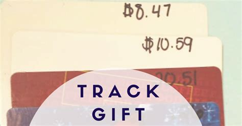 Track Gift Cards - the nifty thrifty lady a simple way to track gift card balances