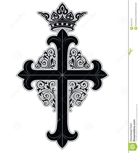 cruz com coroa imagens de stock imagem 33175174