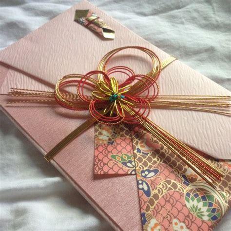 Large Pink Kinpu Japanese Decorative Wedding Money