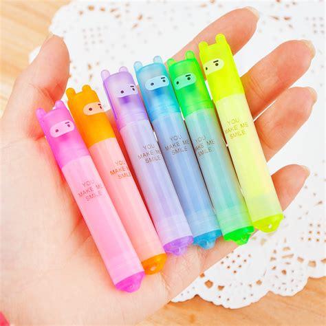 Pulpen School Kawaii Ballpoint 6pcs Multi Color 1 popular highlighter pen buy cheap highlighter pen lots from china highlighter pen suppliers on