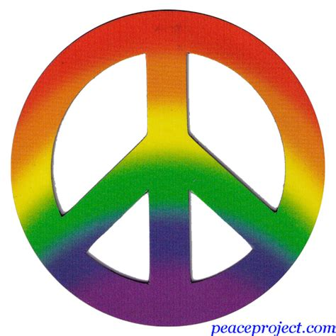 peace colors peace project rainbow colors peace sign vehicle magnet