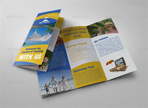 travel brochure template 3 fold travel company tri fold brochure template by owpictures