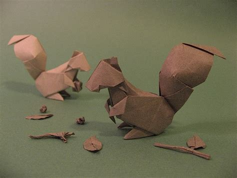 How To Make An Origami Squirrel - origami squirrel by h on deviantart