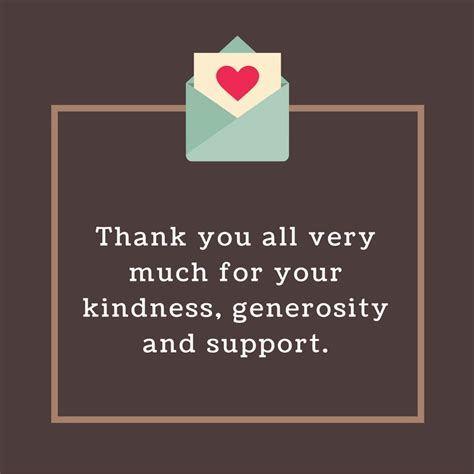 Thank You Letter Kindness thank you for your kindness and generosity pictures to pin