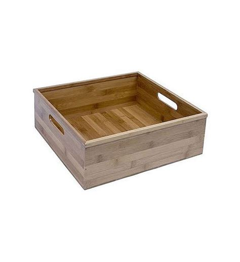 bamboo box storage large bamboo storage box in media storage boxes