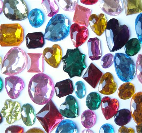 large flat backed acrylic gems children s craft supplies
