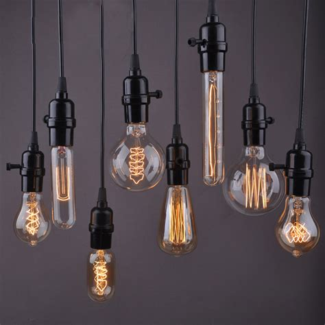 Kitchen Light Bulb 1pc Pendant Wire Personality Edison L Bar Counter Aisle Lights Pendant Ls Coffee Shop