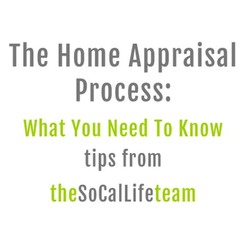 the home appraisal process