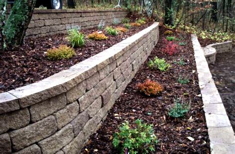 how to landscape a hill retaining walls