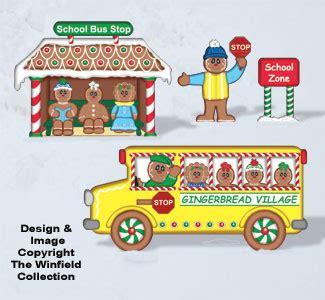 gingerbread gingerbread school bus woodcraft pattern
