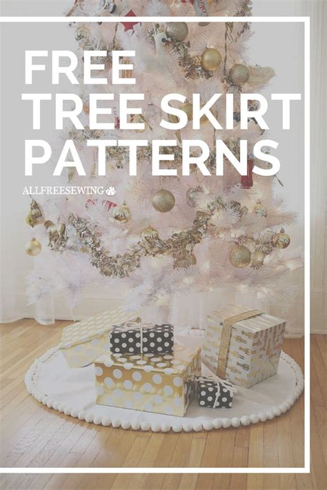 Tree Skirt Patterns To Sew Plus Some No Sew Ideas Too Christmas Sewing Pinterest Trees Tree Sewing Template