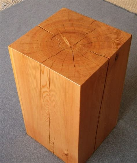 wood block end table wood block side table for the home