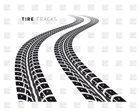 eps clipart tire tracks royalty free vector clip image 74900