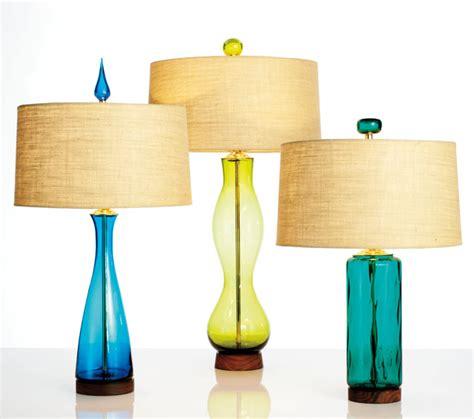 Eva Vase Blenko Glass Iconic Mid Century Modern Table Lamps