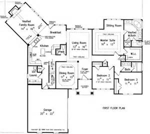 house plans with kitchen in front one story floor plan make bedroom 2 the study somehow