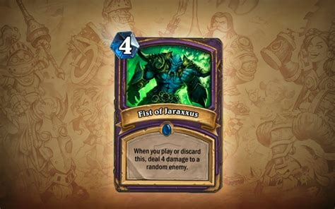 The Grand Gift Card - five more hearthstone cards announced for the grand tournament expansion evil bunny 3k