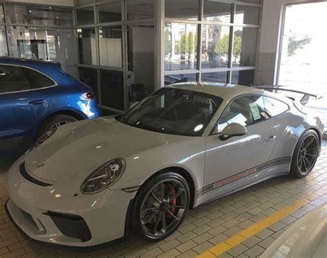 porsche chalk chalk 2018 porsche 911 gt3 with ccx side stripes looks