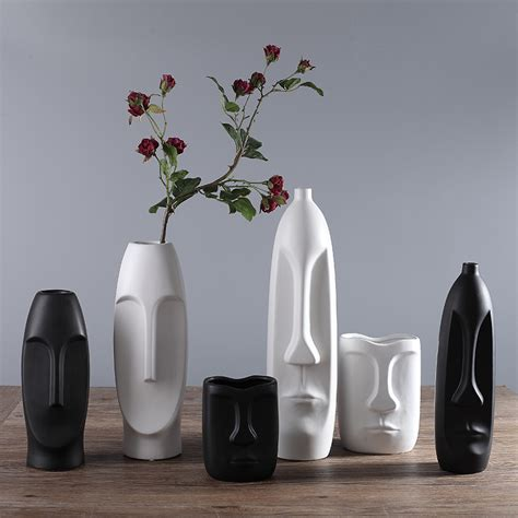 home decor ceramics online get cheap ceramic head vase aliexpress com