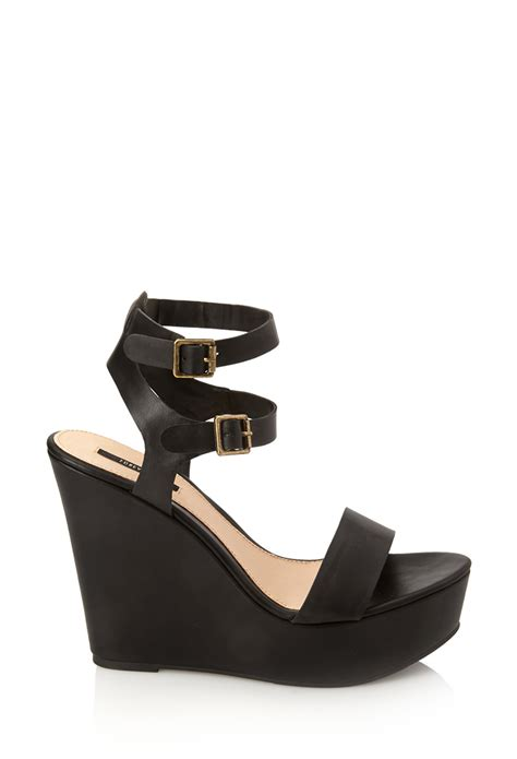 are forever 21 shoes comfortable forever 21 go to wedge sandals in black lyst