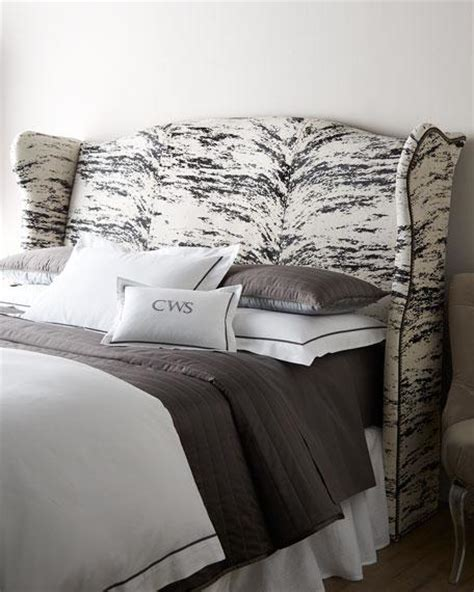 white and black headboard white and black emerson slipcovered headboard