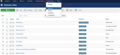 edit layout joomla template change order of modules in joomla 3 as blog