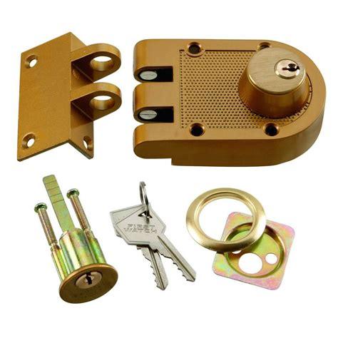 door deadbolt security polished brass cylinder