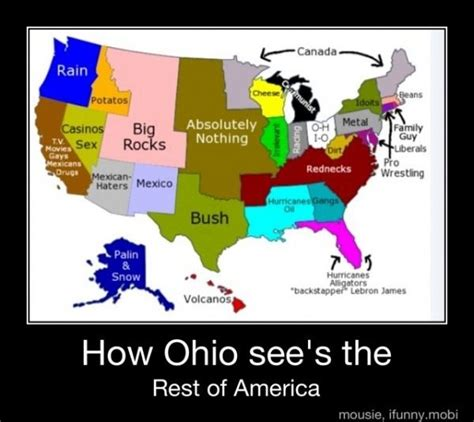 humorous stereotypical maps  ohio