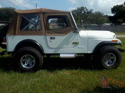 Jeep Cj7 Soft Top 1985 Jeep Cj7 4 2l I6 12v Manual 4wd Soft Top Leather Cd