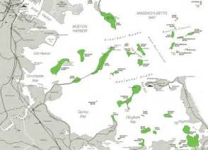 Boston Harbour Map by Boston Harbor Islands Map New England Maps Pinterest