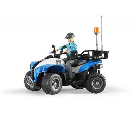 bruder toys police  wheeleratv