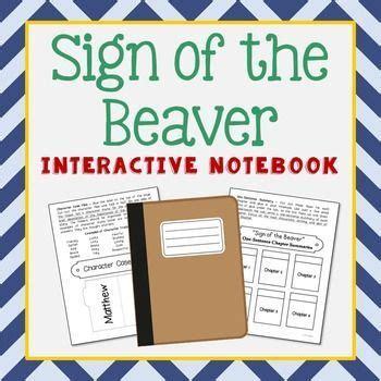 sign of the beaver book report sign of the beaver interactive notebook novel unit study