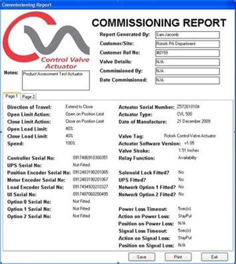 Cva Commissioning Report 34527465 Commissioning Report Template