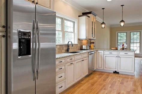 what color kitchen cabinets go with white appliances deductour