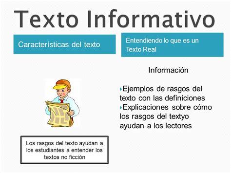 imagenes latex al lado del texto texto informativo caracter 237 sticas del texto informaci 243 n
