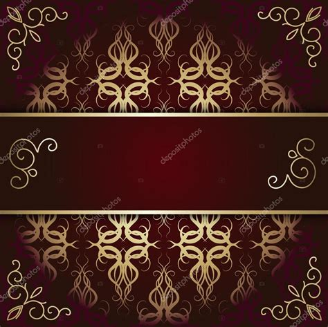 gold pattern card stock luxury background card with maroon and gold pattern stock