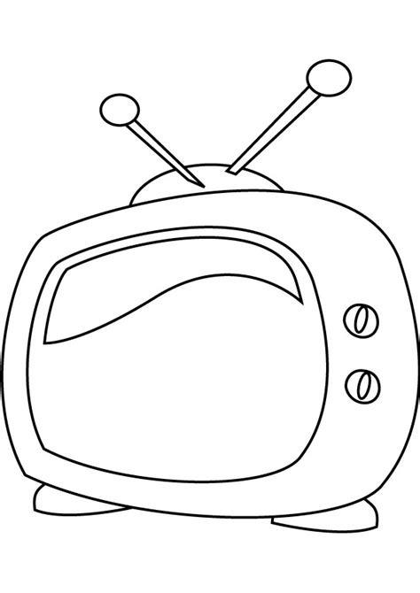 television coloring pages kids