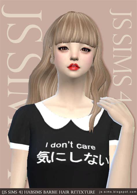 barbies stuffs hairstyles sims 4 hairs habsims barbie hair retexture at js sims 4 187 sims 4 updates