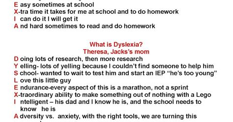 Cover Letter For Dyslexia What Is Dyslexia For A Child His And My Letter