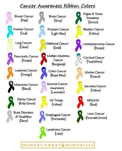 cancer ribbon colors awareness ribbons cancer awareness and cancer on