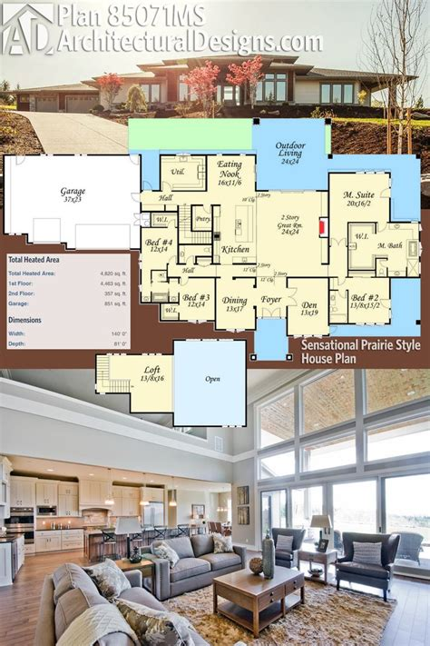 prairie home plans best 25 prairie style houses ideas on prairie