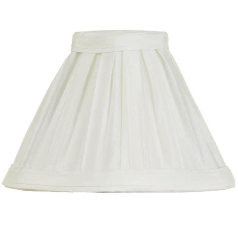 5 inch l shades 5 inch candle box pleat shade ivory from litecraft