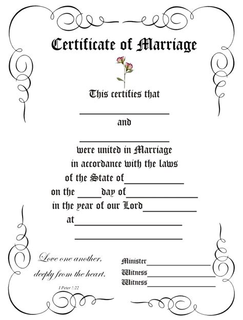 blank marriage certificate template 8 best images of certificate border templates