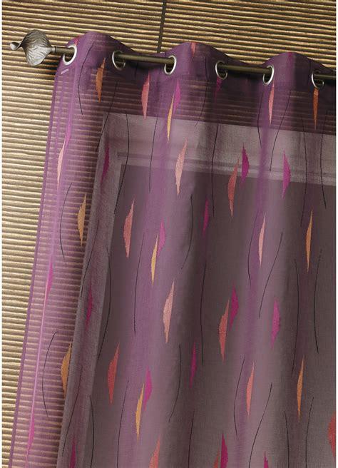 Rideau Voilage Prune by Voilage Etamine Brod 233 E Flammes Prune Homemaison