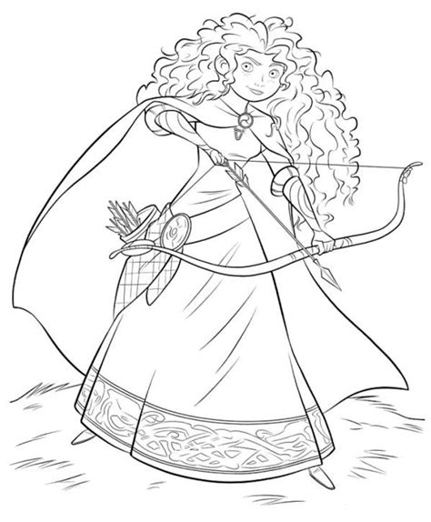 disney coloring pages merida coloring page brave merida with bow and arrow coloring