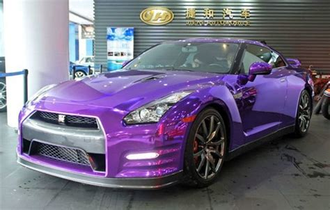 nissan purple nissan gt r is shiny purple in china carnewschina com