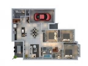 Make House Plans 3 Bedroom Apartment House Plans