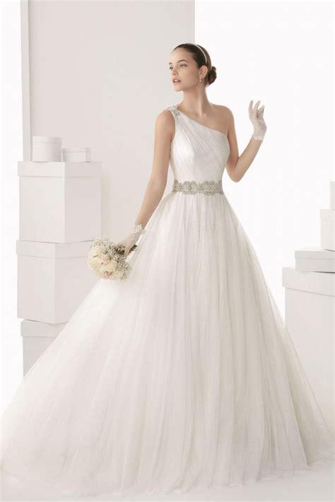 one shoulder wedding dress chic one shoulder a line tulle white wedding dress cheap